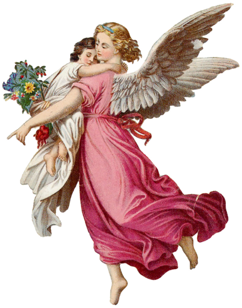 Look in the nook graphics and images vintage retro for Christmas angels