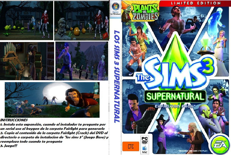 The Backyard Spot: The Sims 3: Supernatural-crack only. . Lleno de magia,