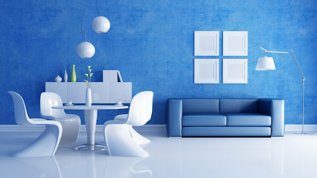 Blue living room design ideas photo