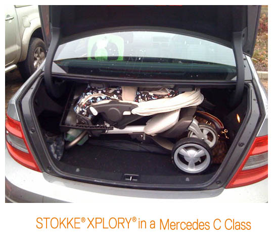 Xplory In My Boot on bmw car stroller