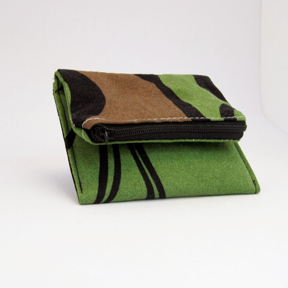 Mini purse green fabric