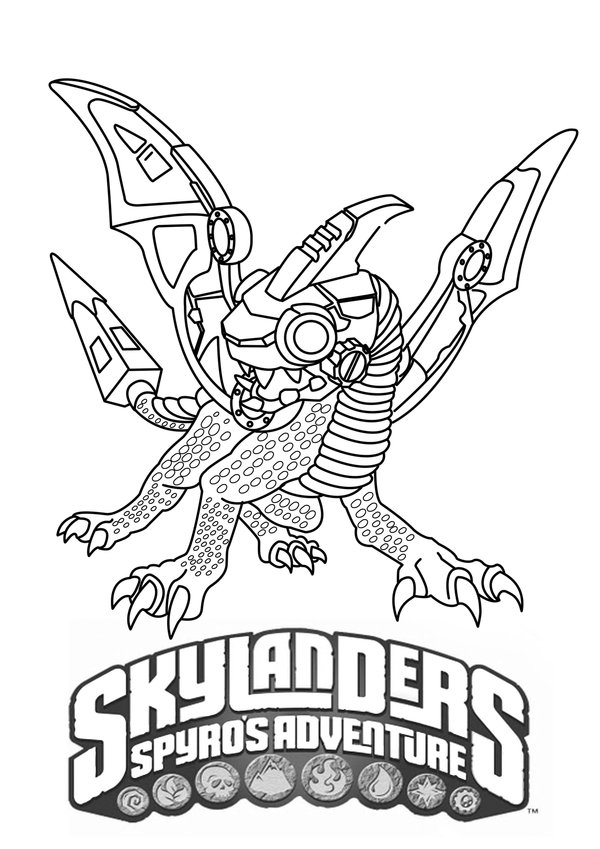 good skylanders coloring pages