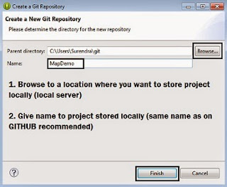 local repository location