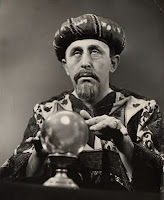 Gypsy man with crystal ball