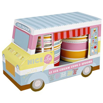 Ice Cream Van with 12 Cups and Spoons by Squires