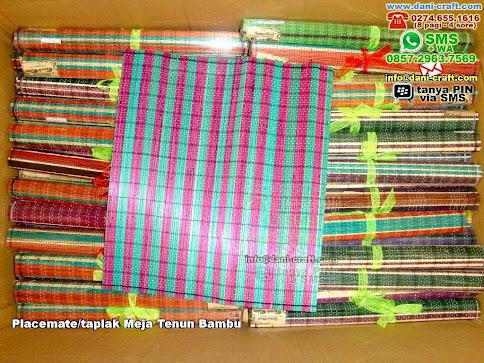 Placematetaplak Meja Tenun Bambu Bambu Lidi Bogor