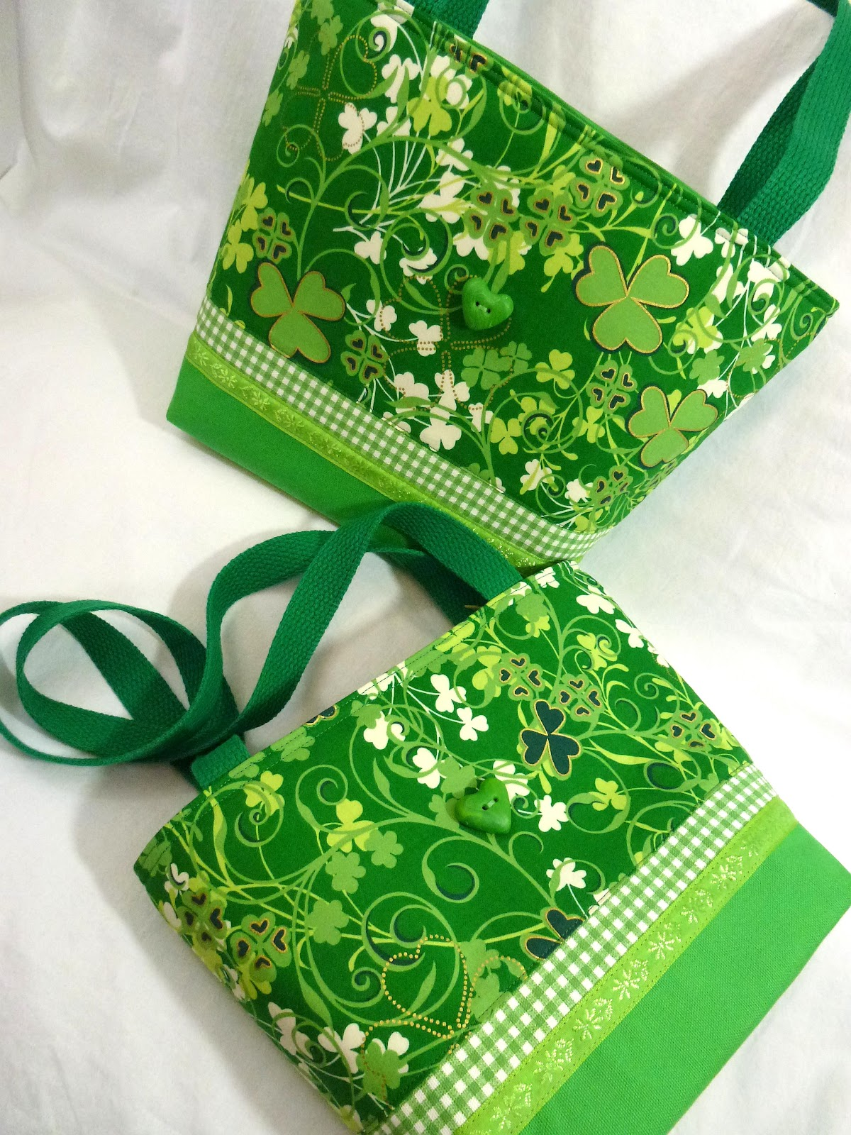 leslie u0027s art and sew st patrick u0027s day bags