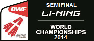 Hasil Pertandingan Semi Final BWF World Championships 2014