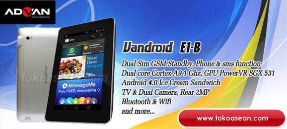 Advan Vandroid E1-B, Tablet 1 Jutaan Bisa Telepon/SMS dan Nonton TV