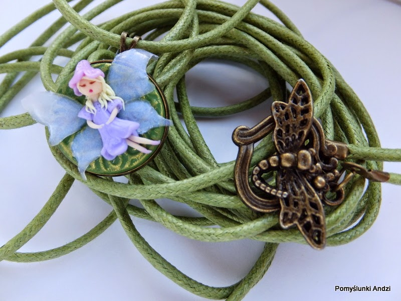 fairy, wróżka, pendant, wisiorek, premo, fimo,