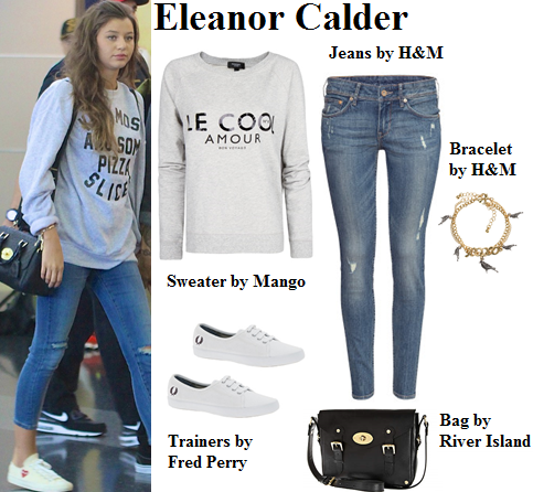 eleanor calder, one direction, sweater, style, casual