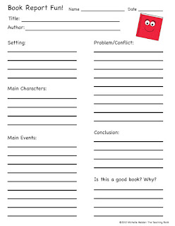 Fun book report form