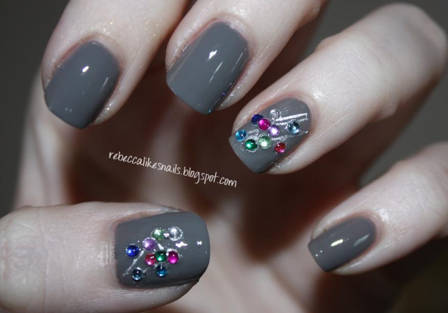 rhinestones per nail. I was wearing 36 rhinestones! :P