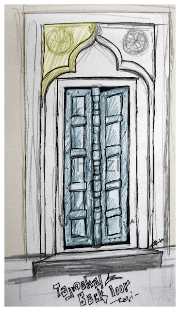 Back door of Taj Mahal Sketch