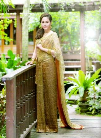 Thai prayok wedding dress a look of thailand traditional for Thai style wedding dress