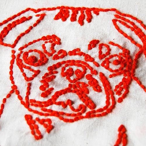 Line Drawing Embroidery : The craftinomicon embroidered line drawings