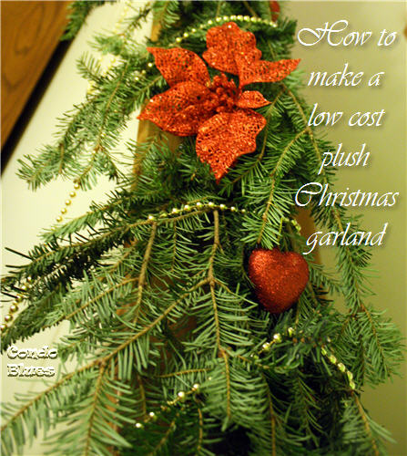 how to make a low cost evergreen christmas garland