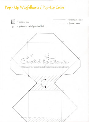 stempeleinmaleins pop up w rfelkarte pop up cube card. Black Bedroom Furniture Sets. Home Design Ideas