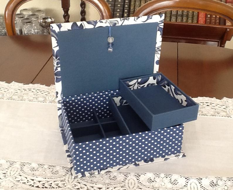 Con hilo y aguja trabajos de cartonaje - Caja joyero ikea ...