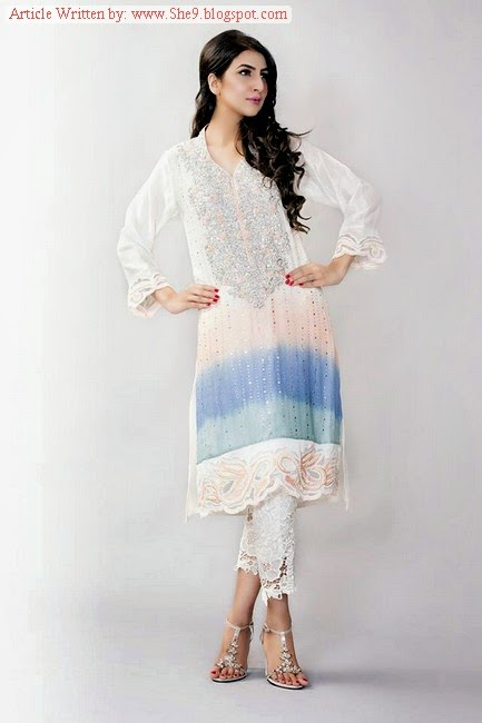 Two Shaded Formal Dress Collection 2014 by Ayesha Somaya