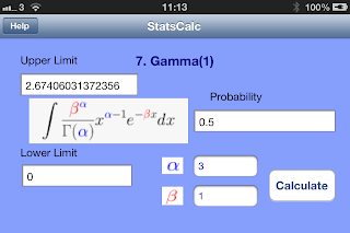 Gamma function - use for evaluation of incomplete gamma function