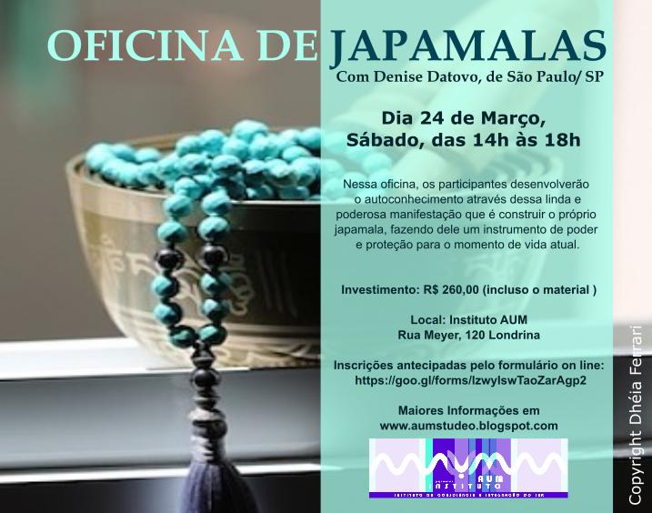 OFICINA DE JAPAMALAS, com Denise Datovo