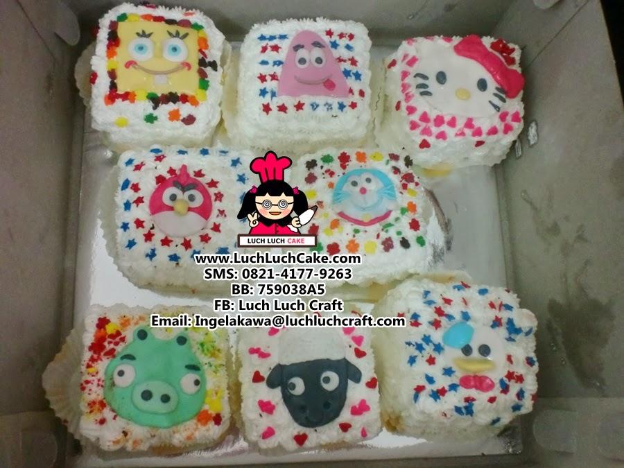 Kue Tart Kecil Aneka Kartun Daerah Surabaya - Sidoarjo