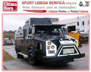 Autocarro do Benfica - Segurança maxima