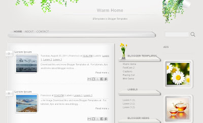 warm home free blogger template