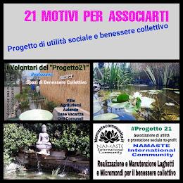 21 Motivi per Associarti al Progetto 21