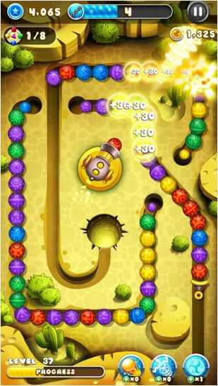 Candy Crush Lovers Play This Game-Marble Blast Saga