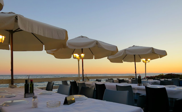 Marbella Spain Summer Holiday Restaurant Food Sea View Sunset