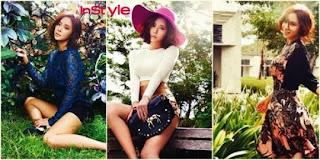 Foto Aktris Cantik Hwang Jung Eum Memakai Batik di Bali Indonesia