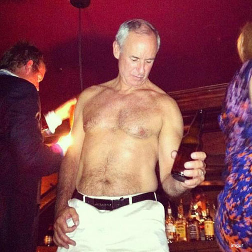 ron+maclean+cbc+partying+drunk+shirt+off