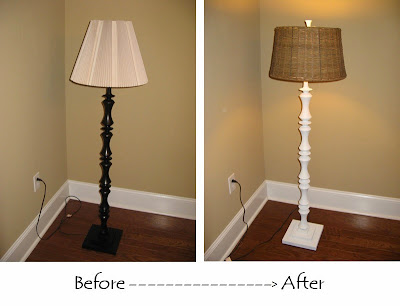 FLOOR LAMP UPCYCLE - SPRAY PAINT