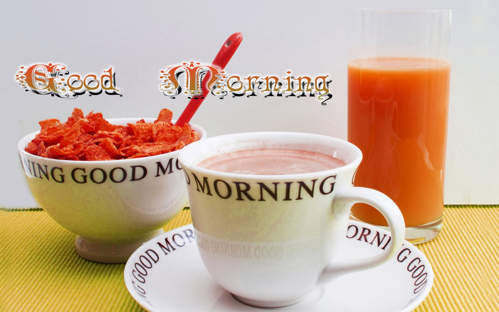 Good-Morning-Wallpaper-With-Glass-Of-Juice-And-Snaks-Image-HD-Wide