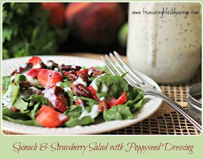 Spinach & Strawberry Salad w/Poppyseed Dressing