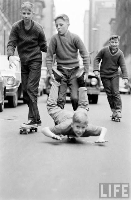 Black And White Photography Vintage City Kids Skateboard