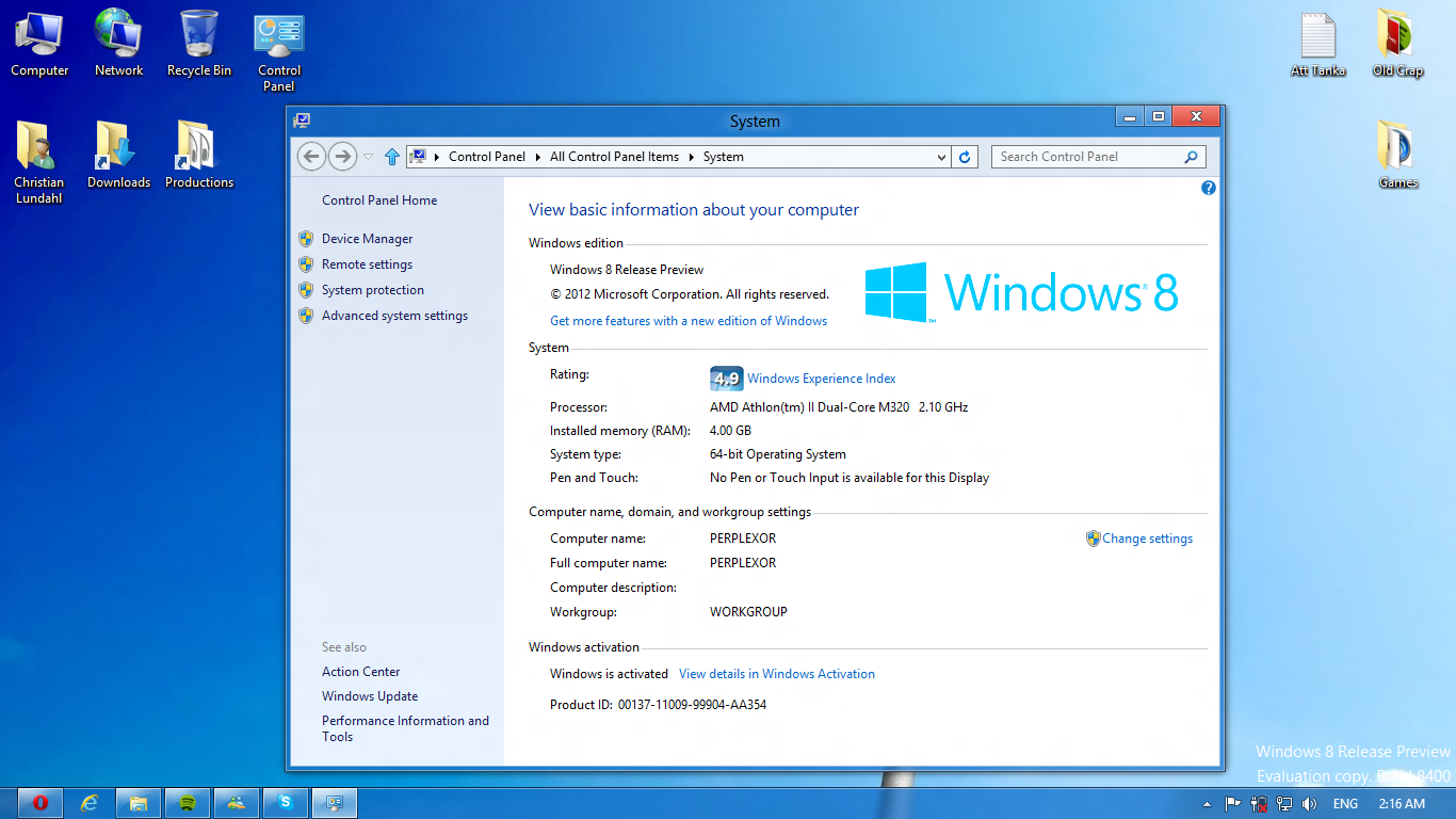 leave workgroup windows 8