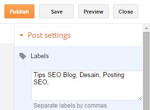 Label Posting Blog