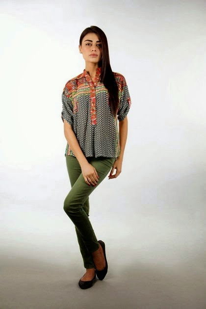 Khaadi Printed Shirts for Jeans