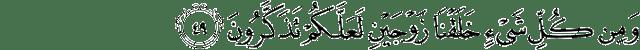 Surat Adz-Dzariyat ayat 49