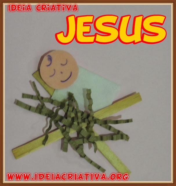 Menino Jesus na Manjedoura Reciclagem