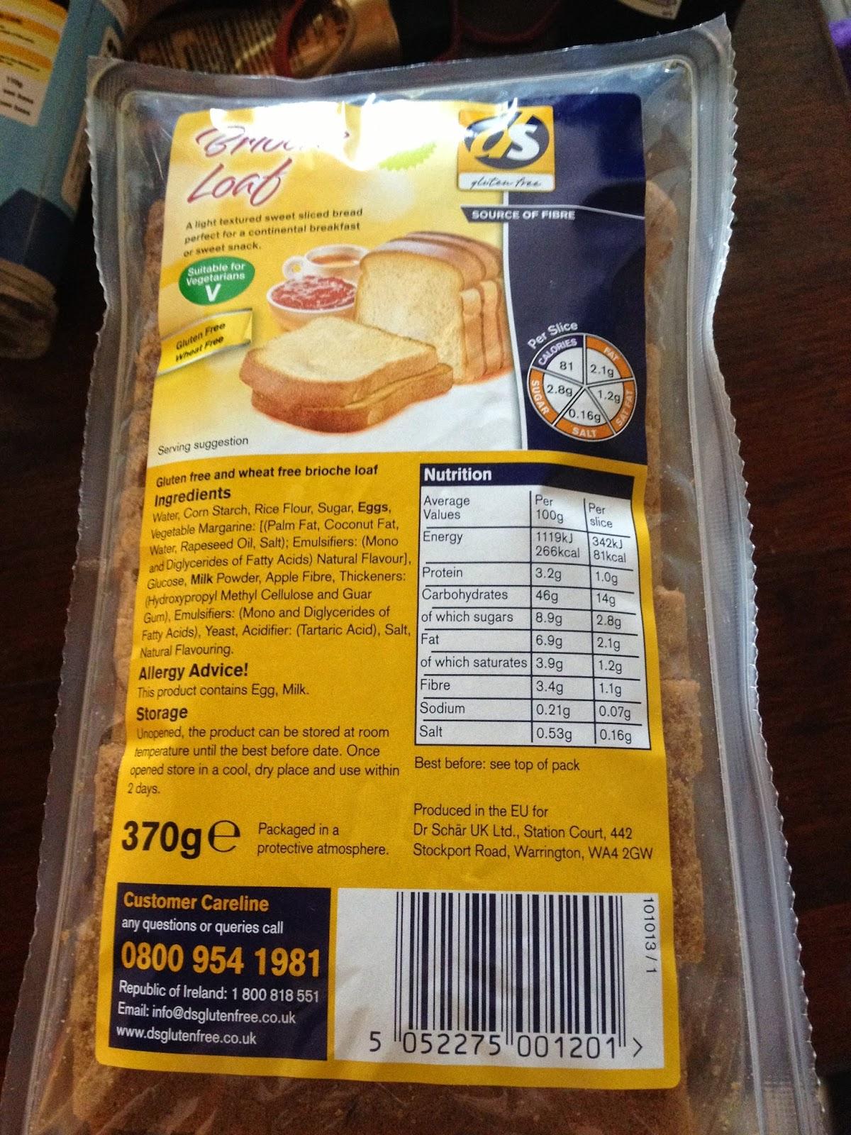 ds gluten free brioche loaf
