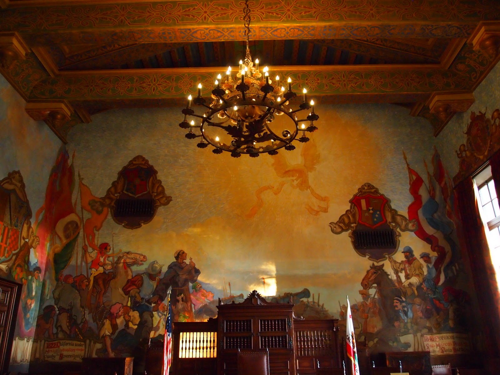 Aim high willis aim high santa barbara county courthouse for Mural room santa barbara courthouse