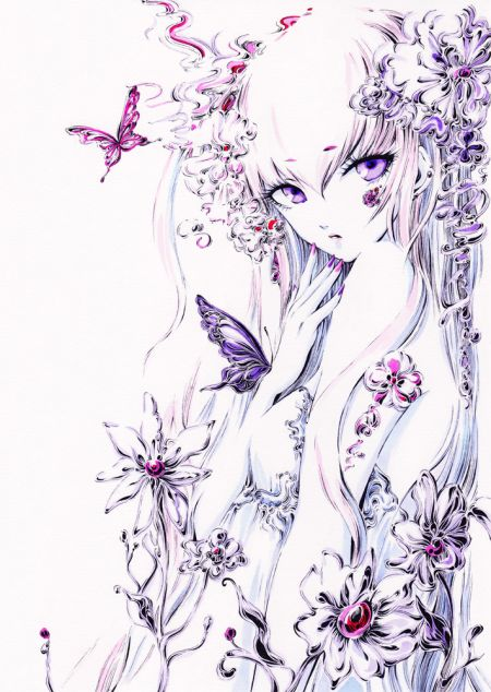 Charmal ilustrações mulheres garotas estilo anime mangá Jardim