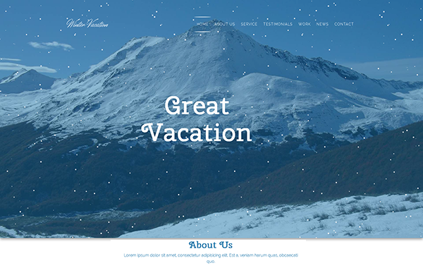 Winter Vacation – Responsive Winter Travel HTML Template