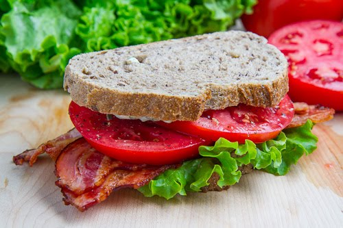 BLT (Bacon Lettuce and Tomato) Sandwich with Basil Mayo on Closet ...