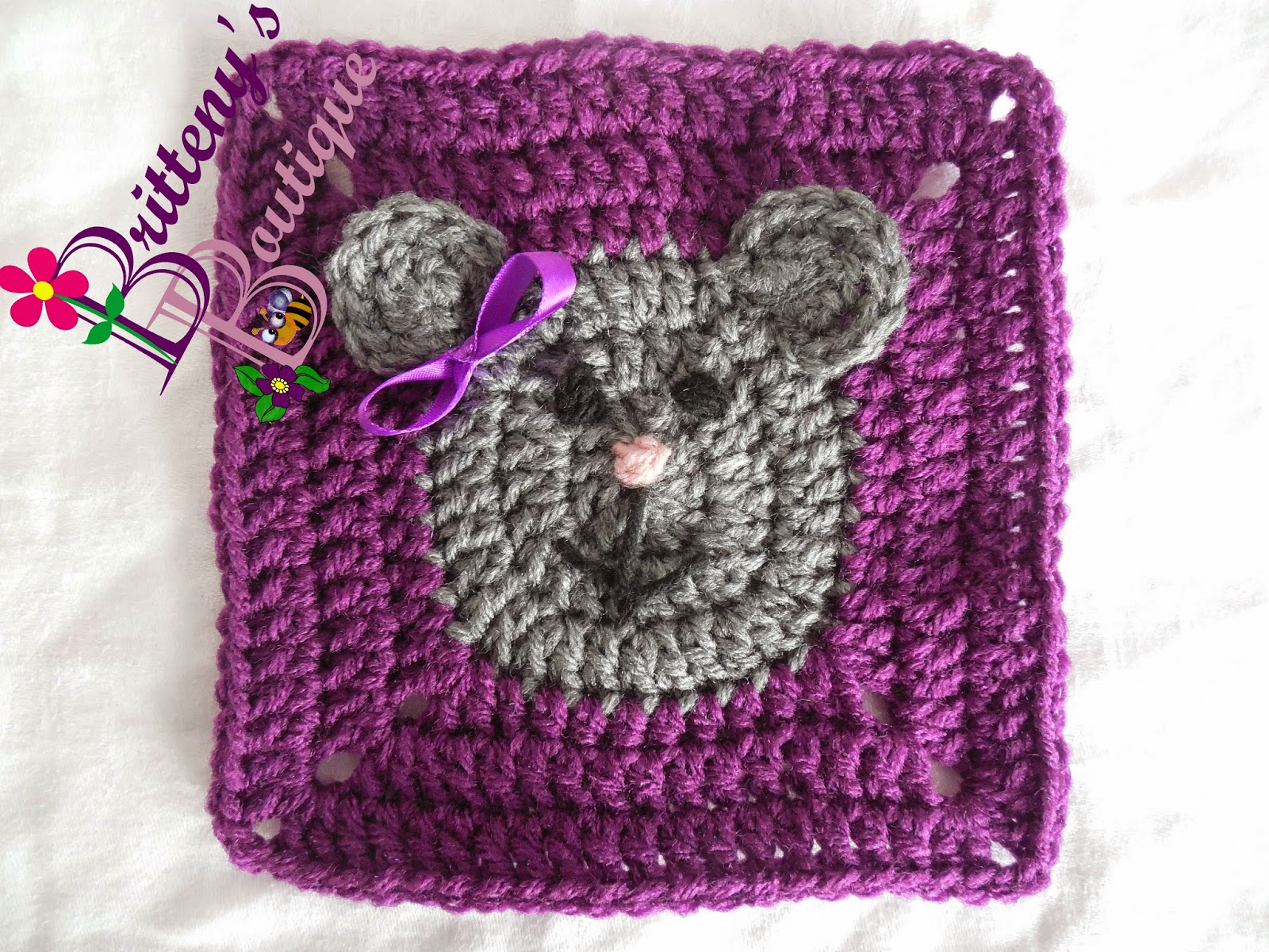 Britteny Off the HOOK!!: Teddy Bear Square - Crochet Pattern