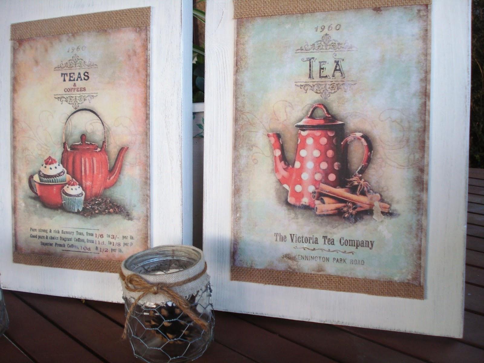 Xanela vintage un par de cuadros para la cocina - Posters decorativos ...
